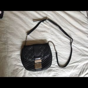 Black Quilted Leather Michael Kors CrossBody